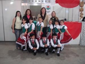Ballo Del Bambino com as diretoras da Egídio, professora Marzane e a Secretaria da Educação Rosimere